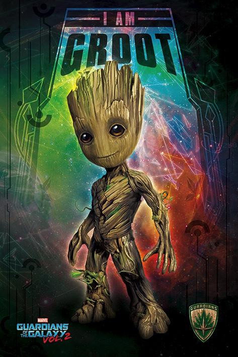 GUARDIANS OF THE GALAXY 2 - Poster 61X91 - I Am Groot