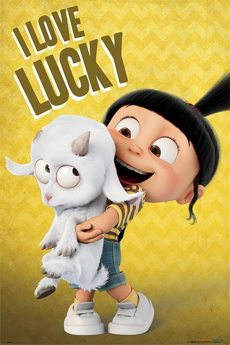 DESPICABLE ME 3 - Poster 61X91 - I Love Lucky