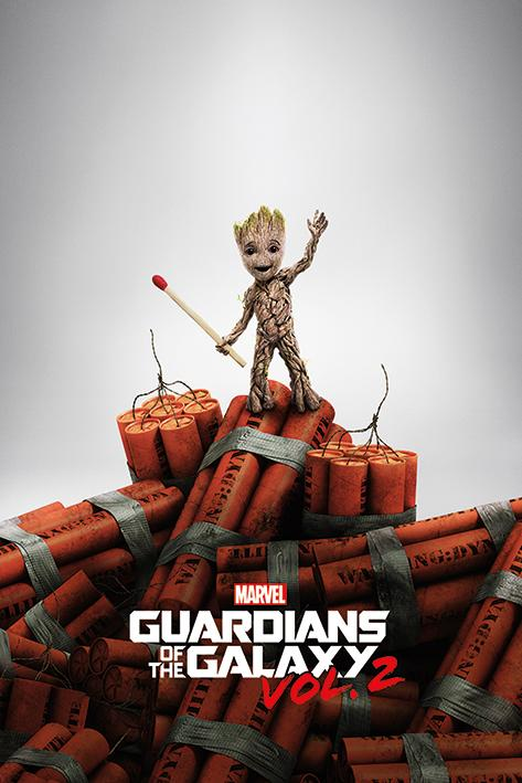 GUARDIENS OF THE GALAXY 2 - Poster 61X91 - Groot Dynamite