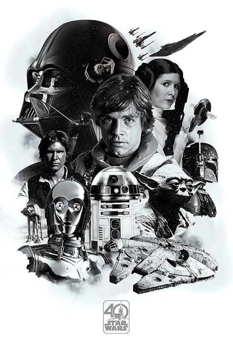 STAR WARS - Poster 61X91 - 40th Anniversary Montage