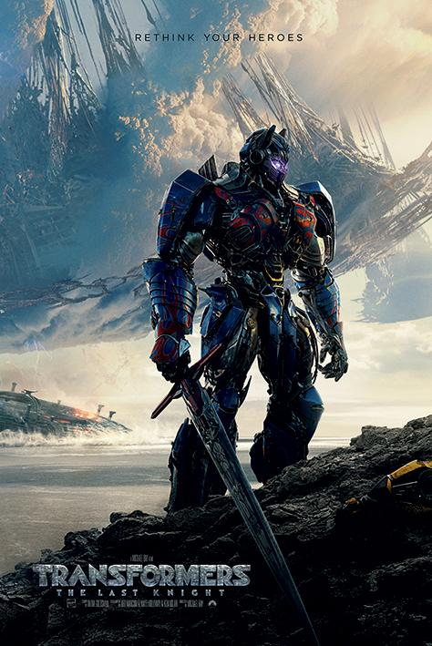 TRANSFORMERS - Poster 61X91 - The Last Knight - Rethink Your Heroes