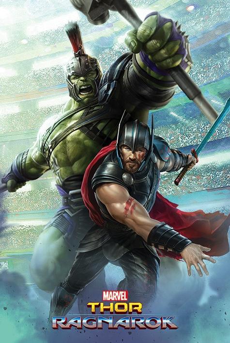 THOR RAGNAROK - Poster 61X91 - Thor and Hulk_1