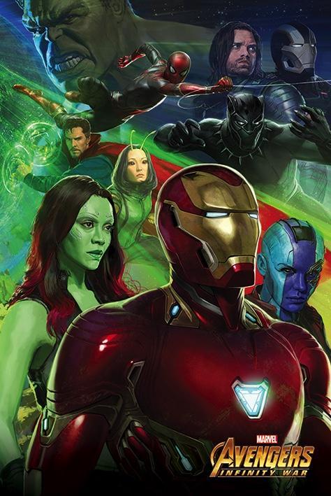 AVENGERS INFINITY WAR - Poster 61X91 - Diorama 3/3 - Iron Man