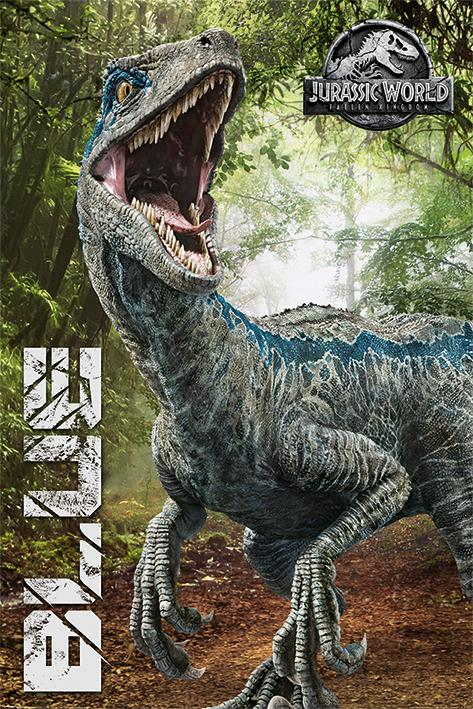 JURASSIC WORLD FALLEN KINGDOM - Poster 61X91 - Blue