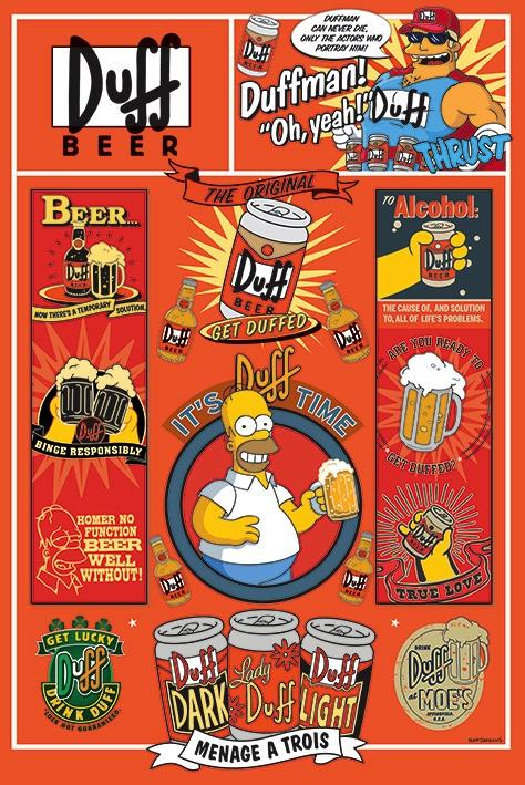 THE SIMPSONS - Poster 61X91 - Duff
