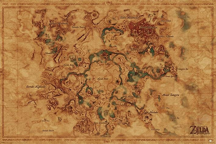 ZELDA - Poster 61X91 - Hyrule World Map