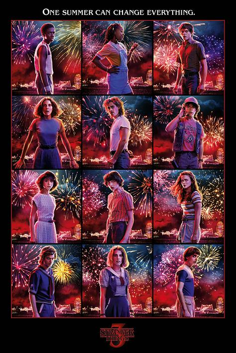 STRANGER THINGS - Poster 61X91 - Character Montage