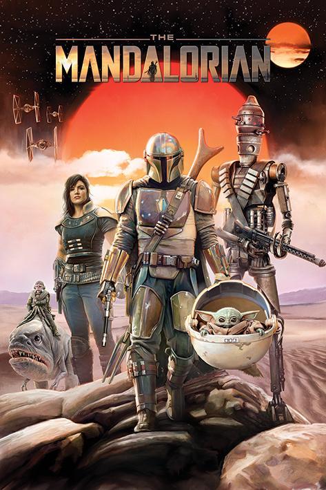 STAR WARS - The Mandalorian Group - Poster 61x91