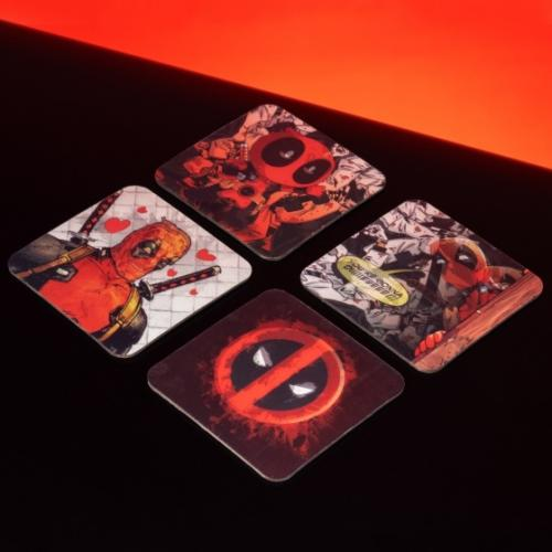 DEADPOOL - Moments - Pack de 4 dessous de verre 3D
