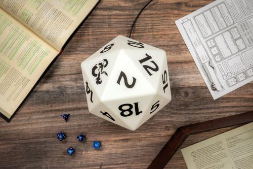 DUNGEONS & DRAGONS - D20 - Lampe multicolore