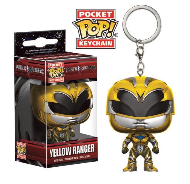 Pocket Pop Keychains : Power Rangers Movie - Yellow Ranger