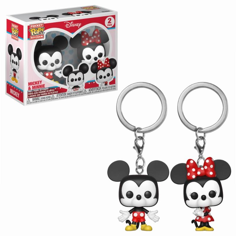 Pocket Pop Keychains : Disney - Mickey & Minnie (2-pack)