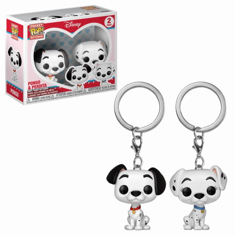 Pocket Pop Keychains : Disney -Pongo & Perdita (2-pack)