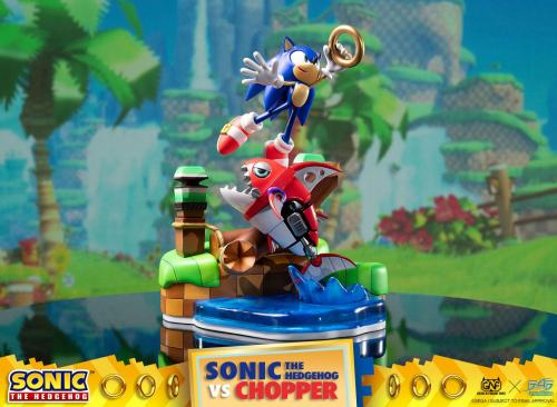SONIC THE HEDGEHOG - Sonic Vs Chopper Diorama - 28cm