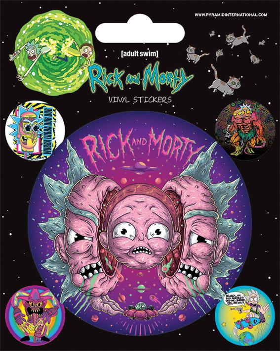 RICK & MORTY - Vinyl Stickers - Psychedelic Visions
