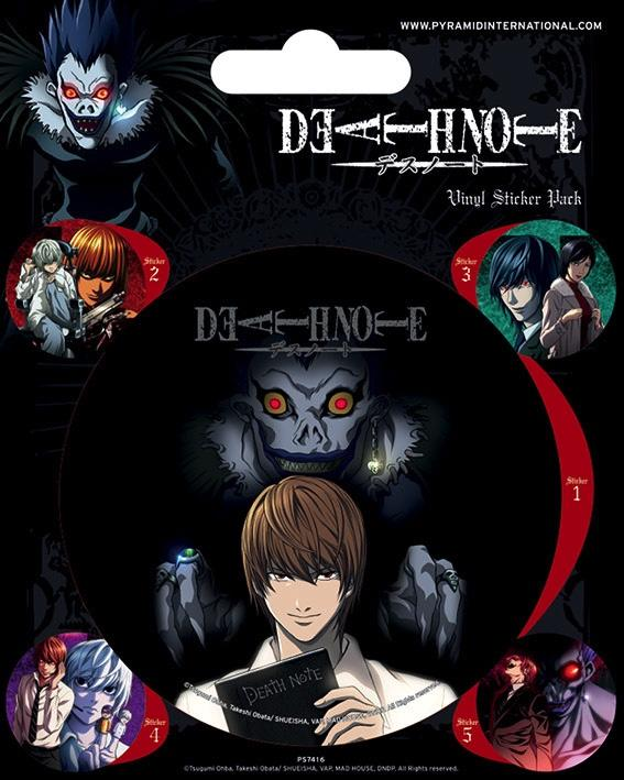 DEATH NOTE - Vinyl Stickers - Characters