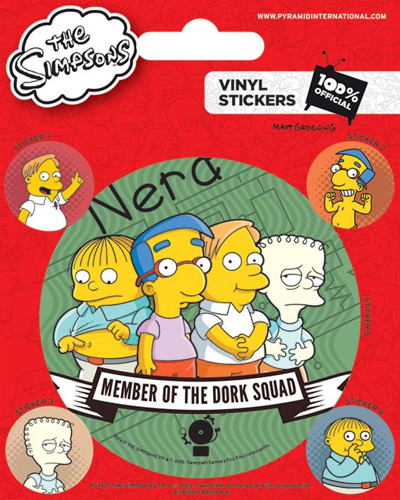 THE SIMPSONS - Vinyl Stickers - Dork Squad