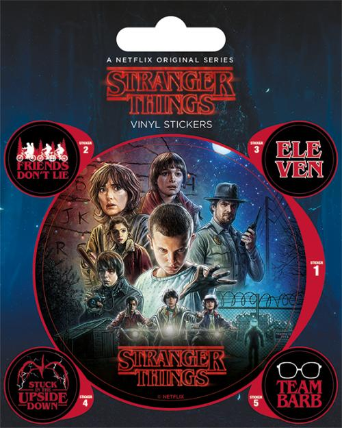 STRANGER THINGS - One Sheet - Stickers en vinyle