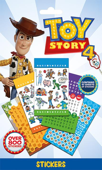 TOY STORY 4 - 800 Sticker Set - Characters