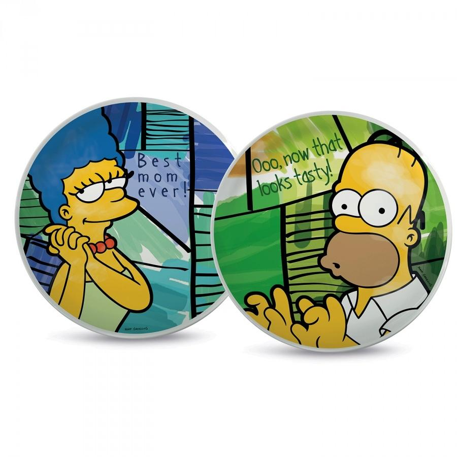 THE SIMPSONS - Set de 2 Pizza Plates 30cm - Homer & Marge