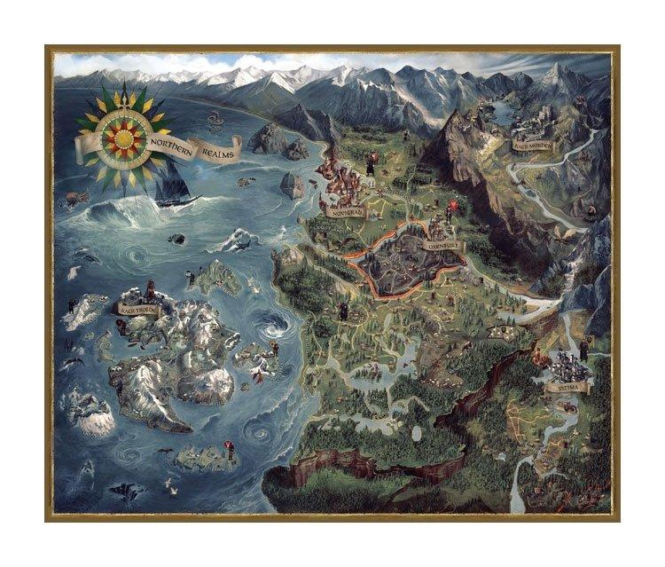 THE WITCHER 2 - Puzzle Northern Realms Map 1000 Pcs