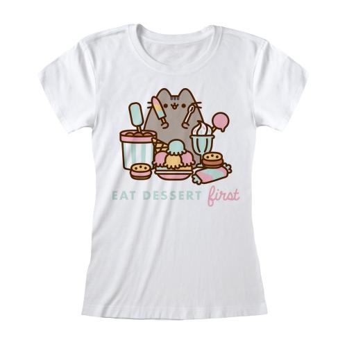 PUSHEEN - T-Shirt femme - Eat Dessert First - (S)