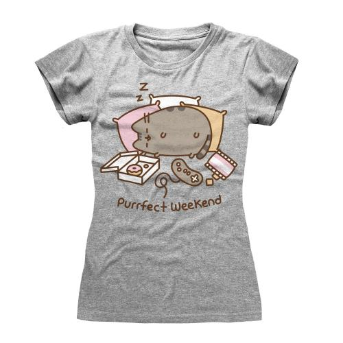PUSHEEN - T-Shirt femme - Purrfect Weekend - (S)