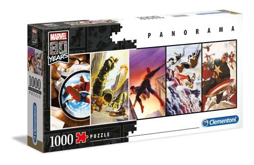 MARVEL - 80th Annviersary Panorama Characters - Puzzle 1000P