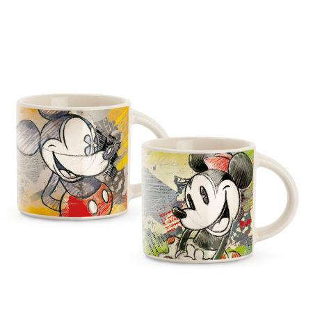 MICKEY THE TRUE ORIGINAL - Set 2 Mini Mugs 90 ml - Green/Red