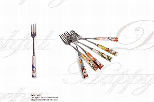 DISNEY / SEVEN DWARFS - Set 7 Fourchettes à Gateau