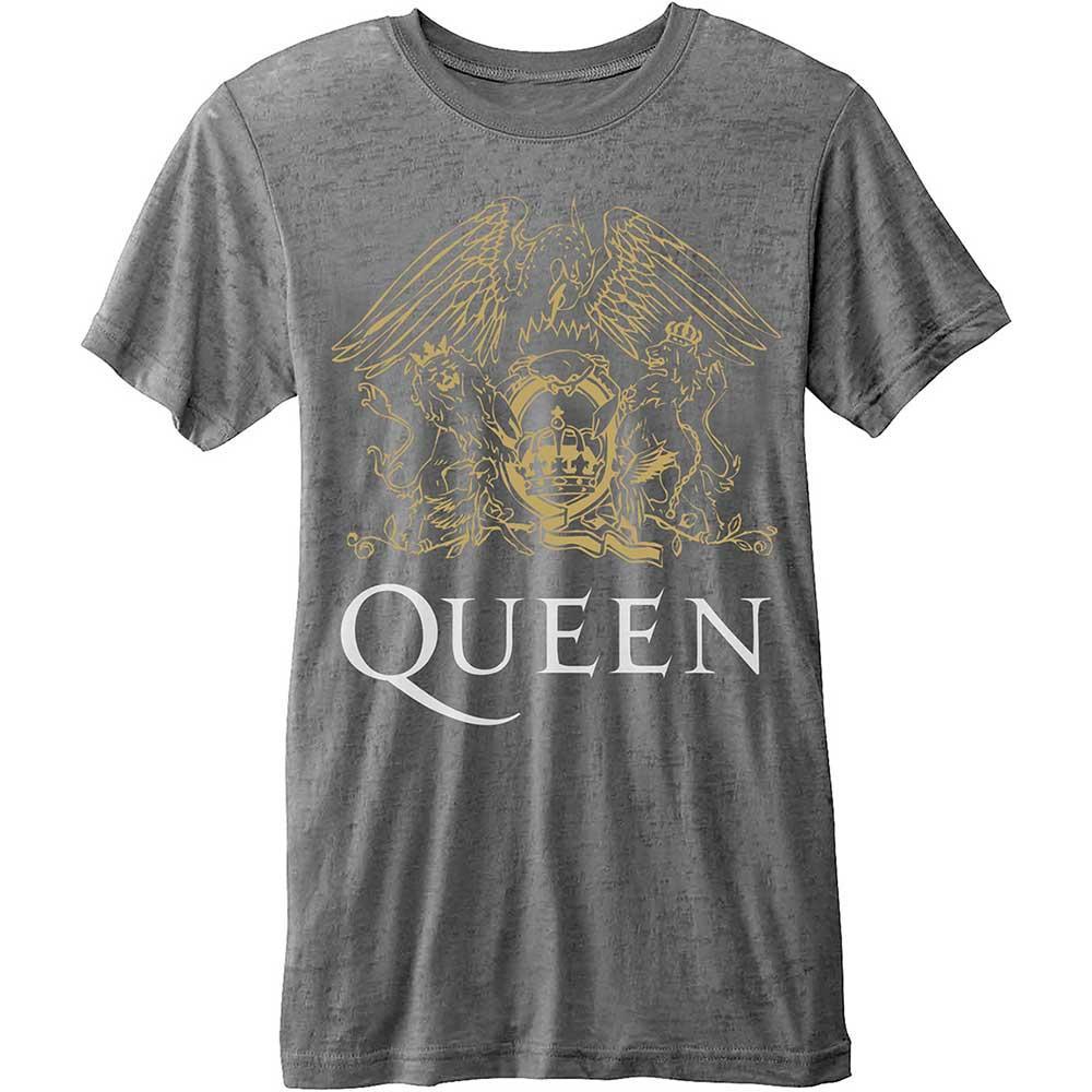 QUEEN - T-Shirt BurnOut - Classic Crest (L)