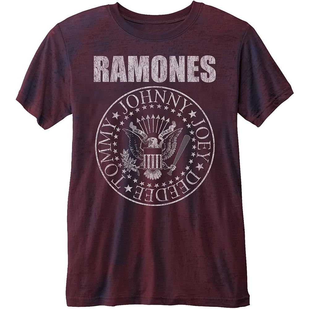 RAMONES - T-Shirt BurnOut - Presidential Seal (L)