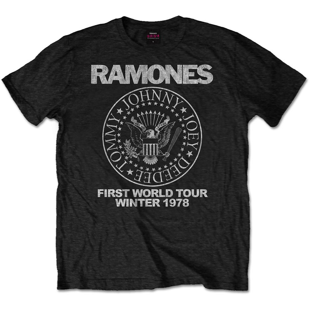 RAMONES - T-Shirt RWC - First World Tour 1978 (L)