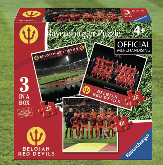 BELGIAN RED DEVILS 2018 - PUZZLE 3 in a Box 25/36/49 Pces