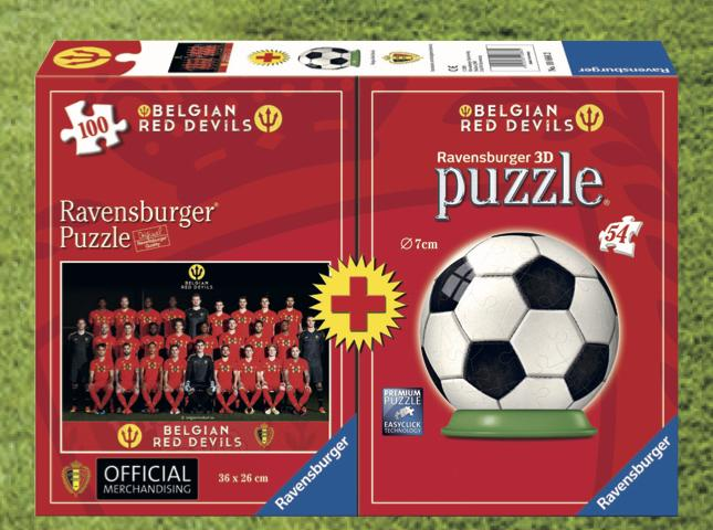 BELGIAN RED DEVILS 2018 - Bi-Pack Puzzle 100p + Puzzle 3D