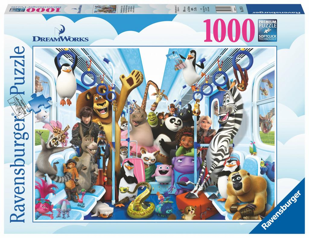 DREAMWORKS - Puzzle 1000P - Travel Family