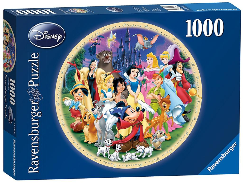DISNEY - Puzzle 1000P - Wonderful World (Puzzle Rond)