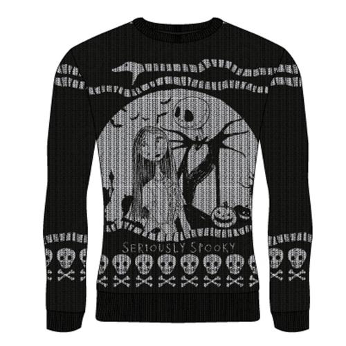 NIGHTMARE BEFORE CHRISTMAS - Seriously Spooky - Christmas Jumper (M)