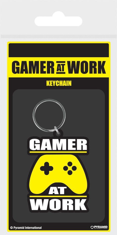 GAMER AT WORK - Porte-Clés Caoutchouc - Joypad