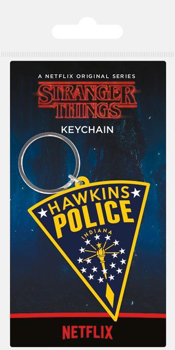 STRANGER THINGS - Hawkins Police - Porte-clés en caoutchouc