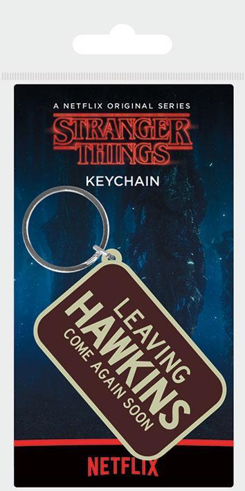 STRANGER THINGS - Porte-Clés Caoutchouc - Leaving Hawkins