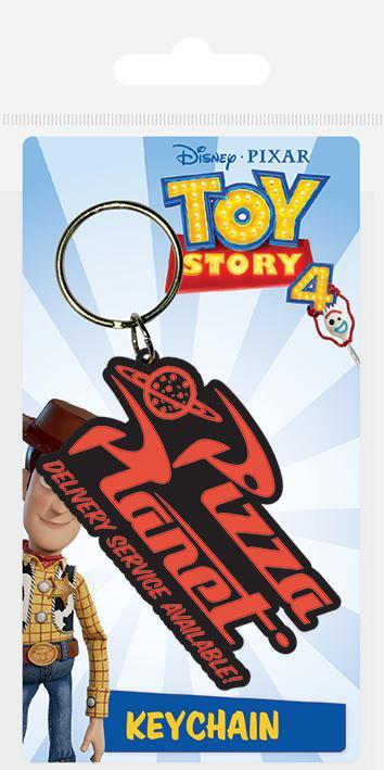 DISNEY - Porte-Clés Caoutchouc - Toy Story 4 - Pizza Planet
