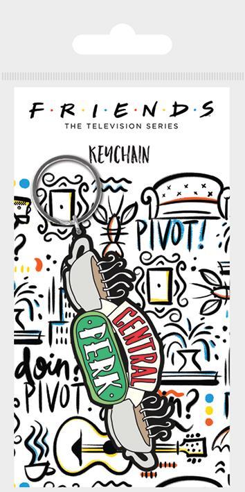 FRIENDS - Central Perk Sketch - Porte-clés en caoutchouc