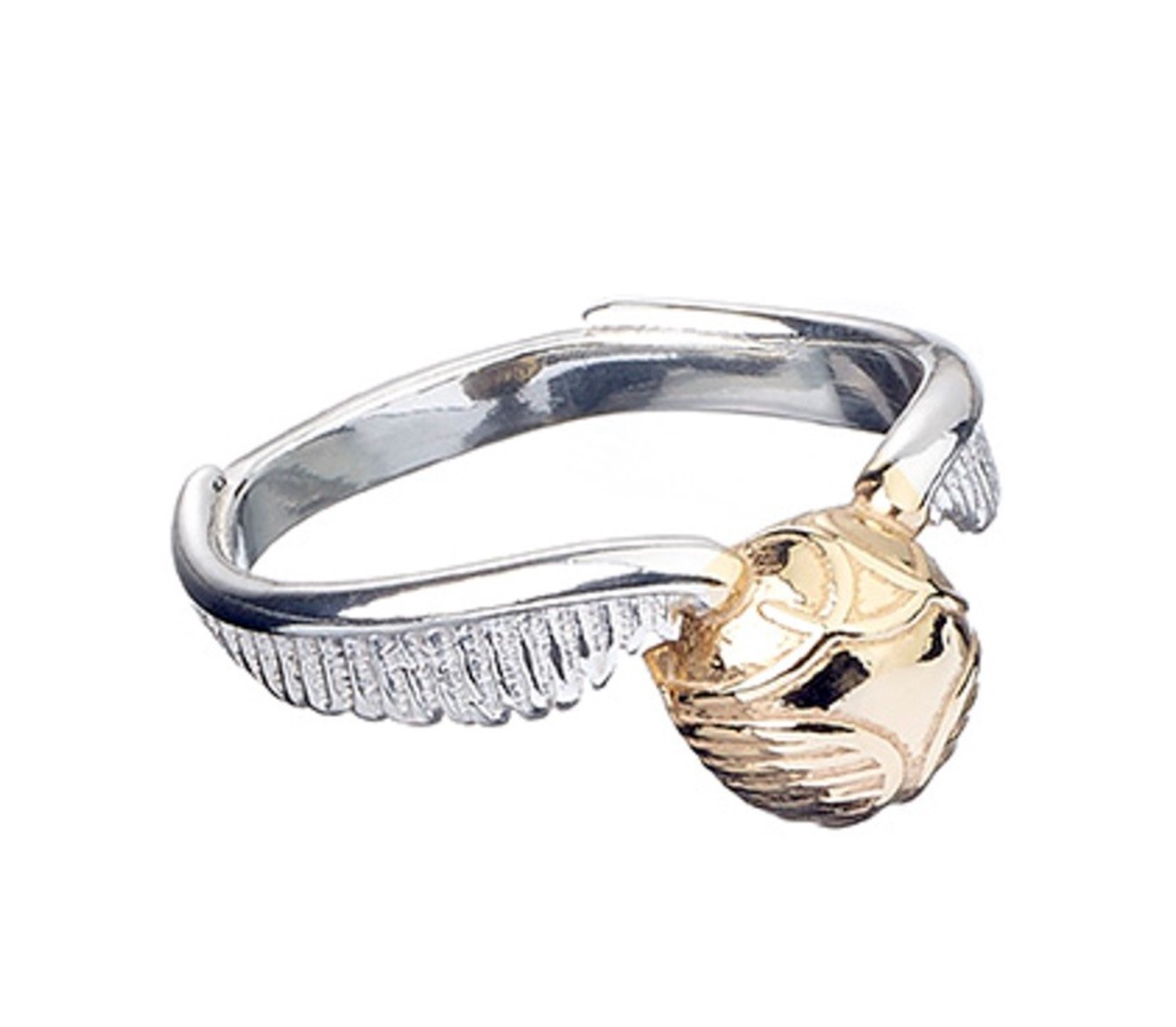 Shopforgeek Harry Potter Bague Sterling Argent Golden Snitch Medium 5055583406058 Harry Potter Bijoux 69 99