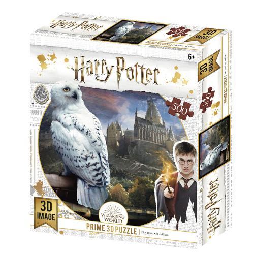 HARRY POTTER - Hedwige - Puzzle lenticulaire 3D 500P '61x46cm'