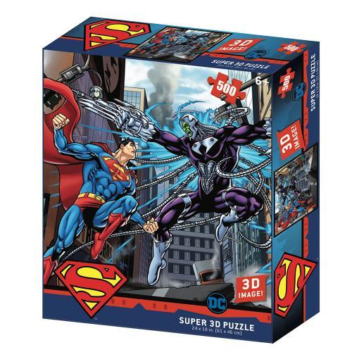 SUPERMAN - VS Electro - Puzzle lenticulaire 3D 500P '61x46cm'
