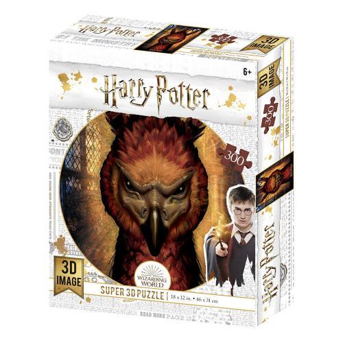 HARRY POTTER - Fawkes - Puzzle lenticulaire 3D 300P '46x31cm'