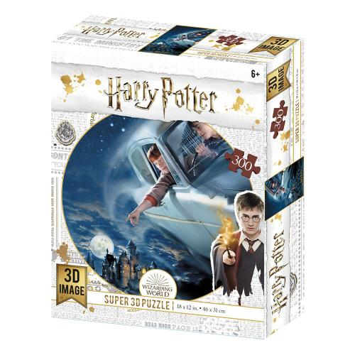 HARRY POTTER - Flying - Puzzle lenticulaire 3D 300P '46x31cm'
