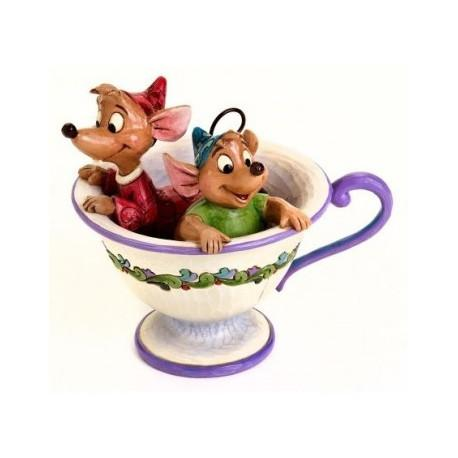 DISNEY Traditions - Jaq and Gus in Tea Pot - 12cm