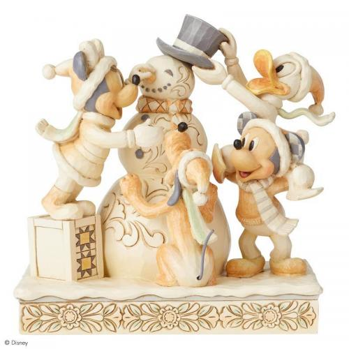 DISNEY Traditions - Mickey Mouse White Woodland - 15cm